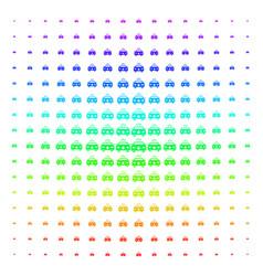 emergency car icon halftone spectral grid vector image