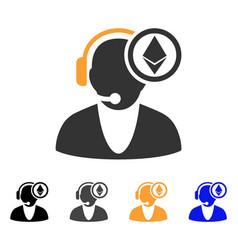 ethereum operator icon vector image