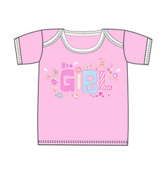 fashion cute clothes for newborn girl vector image