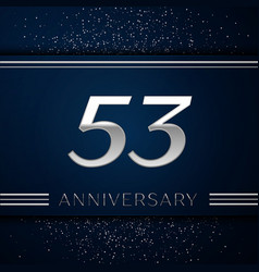 fifty three years anniversary celebration logotype vector image