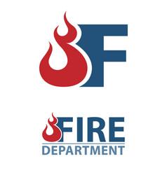 Fire departmen logo vector