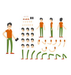 flat character creation set vector image