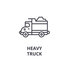 heavy truck line icon sign vector image