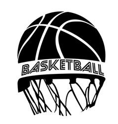 Isolated basketball emblem vector