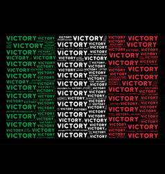 Italian flag collage of victory text items vector