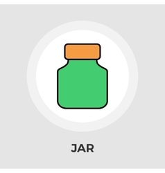 Jar flat icon vector image