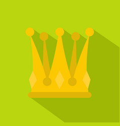 Kingly crown icon flat style vector