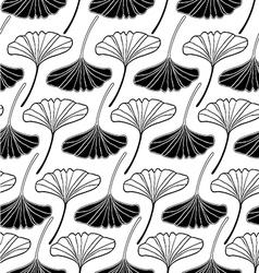 leaf gingko sketch doodle set 2 white vector image