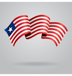 Liberian waving flag vector