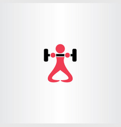 man lifting weights bodybuilder logo icon vector image