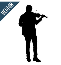man silhouette playing violin vector image