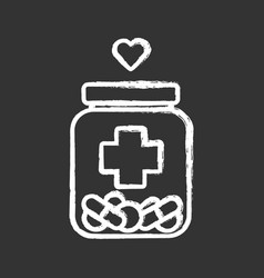 Medical aid chalk icon nursing service medical vector