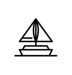 Mini boat icon summer season transport logo icon vector