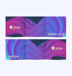 Modern template for trifold square brochure vector