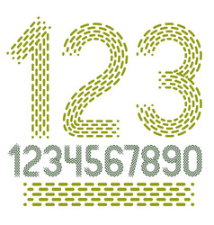 Numbers modern numerals set rounded bold retro vector