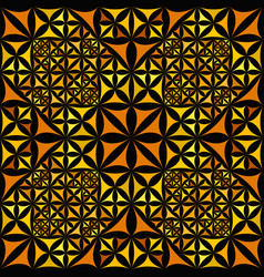 Orange repeating kaleidoscope pattern background vector