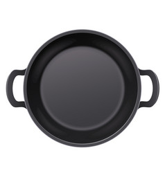 Pan for frying food cooking vector