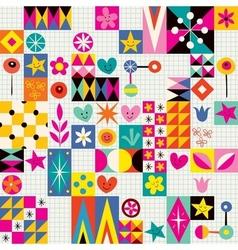 Retro style fun pattern 2 vector