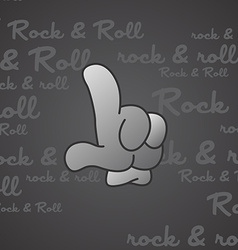 rock and roll theme hand gesture vector image