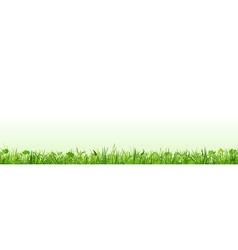Row of green grass vector