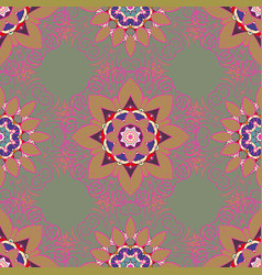 seamless floral pattern with flowers on colorful vector image