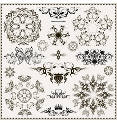Set of elegant calligraphic design elements vector
