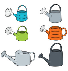 set of watering can vector image