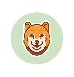 shiba inu dog mascot vector image