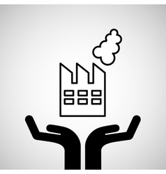 silhouette hands environmentally friendly vector image
