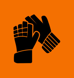 Soccer goalkeeper gloves icon vector