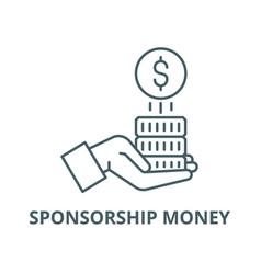Sponsorship money line icon linear concept vector