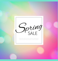 stock spring sale blurred vector image