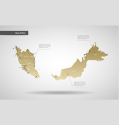 stylized malaysia map vector image