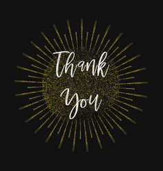 thank you gold glitter background vector image