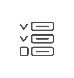 to do list line icon vector image
