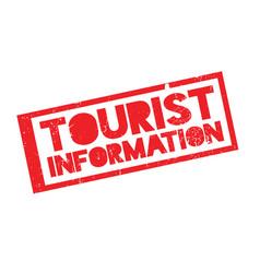 Tourist information rubber stamp vector