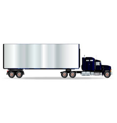 Truck tractor unit and trailer vector