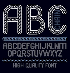 type font script from a to z capital decorative vector image