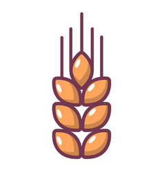 Wheat icon cartoon style vector