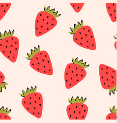 wild or garden strawberry fruit red berry vector image
