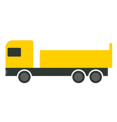 yellow truck flat on white vector image