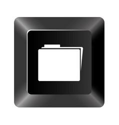 black button file icon vector image