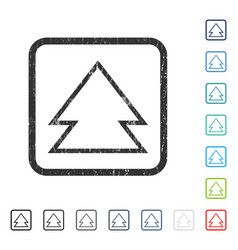 Direction up icon rubber watermark vector