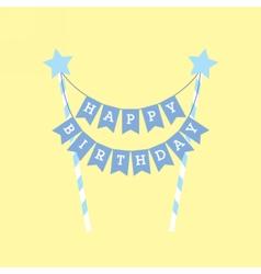 Happy birthday decoration Cake topper vector image