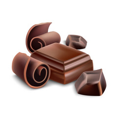 milk chocolate bar vector image