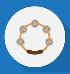 of song symbol on tambourine vector image vector image