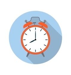 picture of red alarm clock vector image
