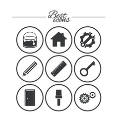 repair construction icons service signs vector image