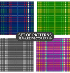 set of 4 abstract seamless patterns vector image