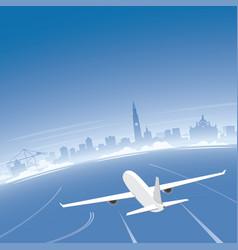 antwerp skyline flight destination vector image vector image